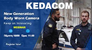 Webinar 16/09 Next-Generation Body worn camera από τη KEDACOM