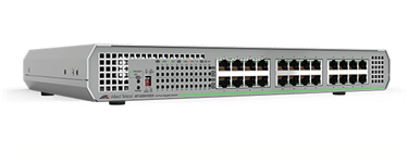 Allied Telesis Αθόρυβο 24-port 10/100/1000T unmanaged switch με εσωτερικό τροφοδοτικό